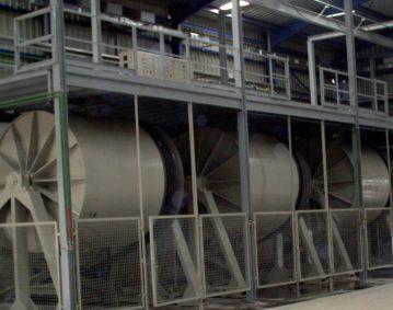 Construcción de maquinaria industrial - Molinos vía húmeda