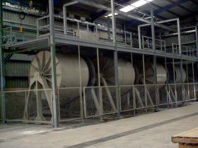 Construcción de maquinaria industrial - Molino vía húmeda